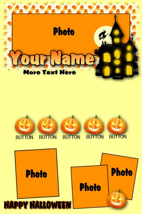 Halloween Email Template 18.00